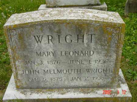 WRIGHT, JOHN MELMOUTH - Talbot County, Maryland | JOHN MELMOUTH WRIGHT - Maryland Gravestone Photos