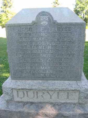 DURYEE  (CW), JACOB E. - Washington County, Maryland   JACOB E. DURYEE  (CW) - Maryland Gravestone Photos