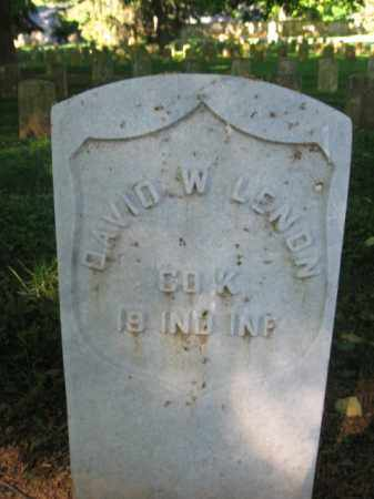 LENON (CW), DAVID W. - Washington County, Maryland | DAVID W. LENON (CW) - Maryland Gravestone Photos