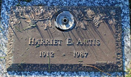 ARTIS, HARRIET E. - Prince George's County, Maryland | HARRIET E. ARTIS - Maryland Gravestone Photos