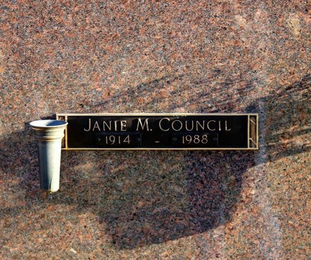 COUNCIL, JANIE M. - Prince George's County, Maryland | JANIE M. COUNCIL - Maryland Gravestone Photos