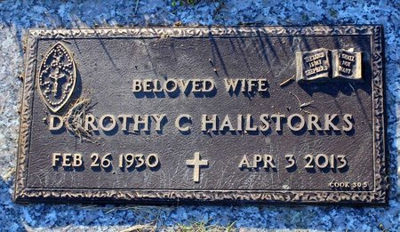 HAILSTORKS, DOROTHY C. - Prince George's County, Maryland | DOROTHY C. HAILSTORKS - Maryland Gravestone Photos